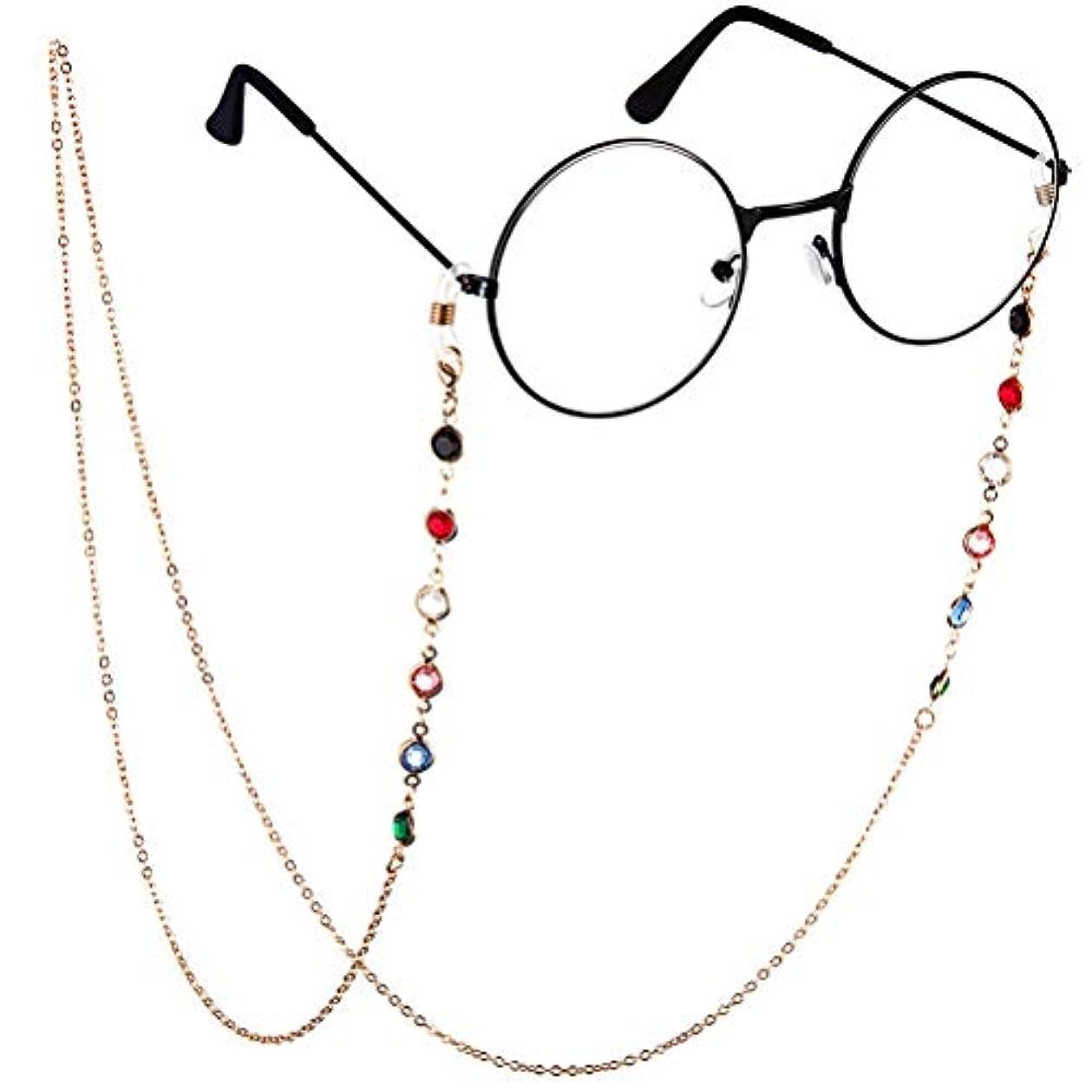 キャビン小屋中でBTSMAT ファッションジェムメガネチェーンメガネ老眼鏡メガネメガネホルダーストラップストラップ