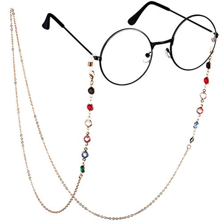 改善する有名人赤ちゃんBTSMAT ファッションジェムメガネチェーンメガネ老眼鏡メガネメガネホルダーストラップストラップ