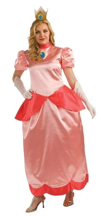 禁止するテーマ宮殿Super Mario Bros. - Deluxe Princess Peach Adult Plus Costume スーパーマリオブラザーズ - デラックスピーチ姫大人用プラスコスチューム?ハロウィン?サイズ:One-Size (Plus)