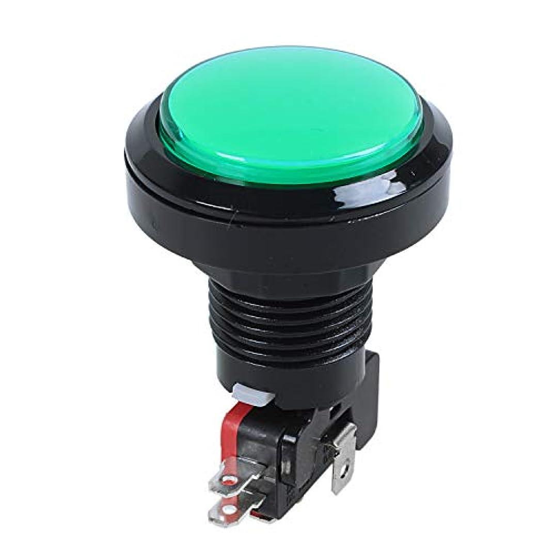 逃げるハイキングに行く伝染性のIycorish 12V LEDライト緑色点灯瞬時押しボタンスイッチ1 NO 1 NC