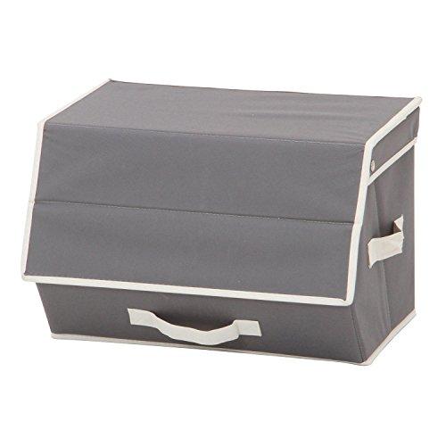 RoomClip商品情報 - カラーボックスに収まる「フラップインナーボックス」【IT】グレー(#9837013-32776) 約38×27×25cm カラーボックス 横置き 蓋付き フラップ扉 布製 ファブリック