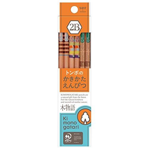 トンボ鉛筆 鉛筆 F木物語 かきかた 2B オレンジ柄 1ダース KB-KF03-2B