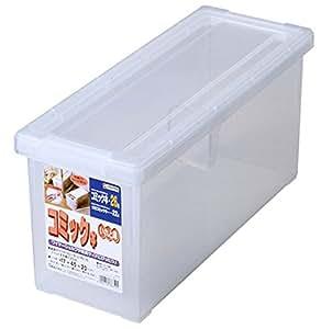 天馬 書籍収納ボックス 幅17×奥行45×高さ20cm コミック本いれと庫 クリア