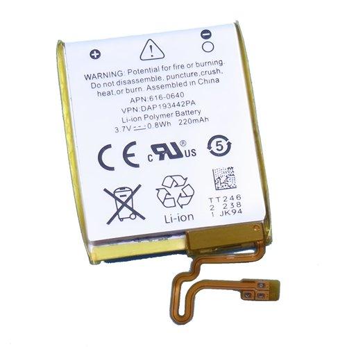 【互換バッテリー】【Replacement Battery with Tool】for iPod nano 第7世代 7th gen. プラスチックツール2本付き
