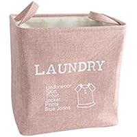 Noloo 収納ボックス 防水 バスルーム ベッドルーム 折り畳み式 洗濯かご 収納かご 家用 大容量 五つ色 size 38*36.7*26cm (ピンク)