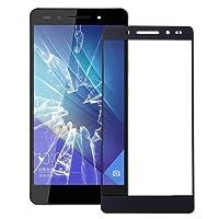 交換用スペアパーツ修理部品 10 PCS Huawei Honor 7フロントスクリーンアウターガラスレンズ(ブラック) (色 : Black)