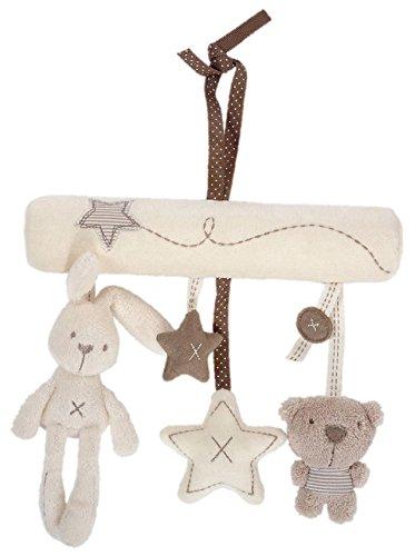 HKH ベビー おもちゃ 吊り下げ おでかけトイ 知育 動物 トイ BABYおさんぽメリー 1 (ホワイト)