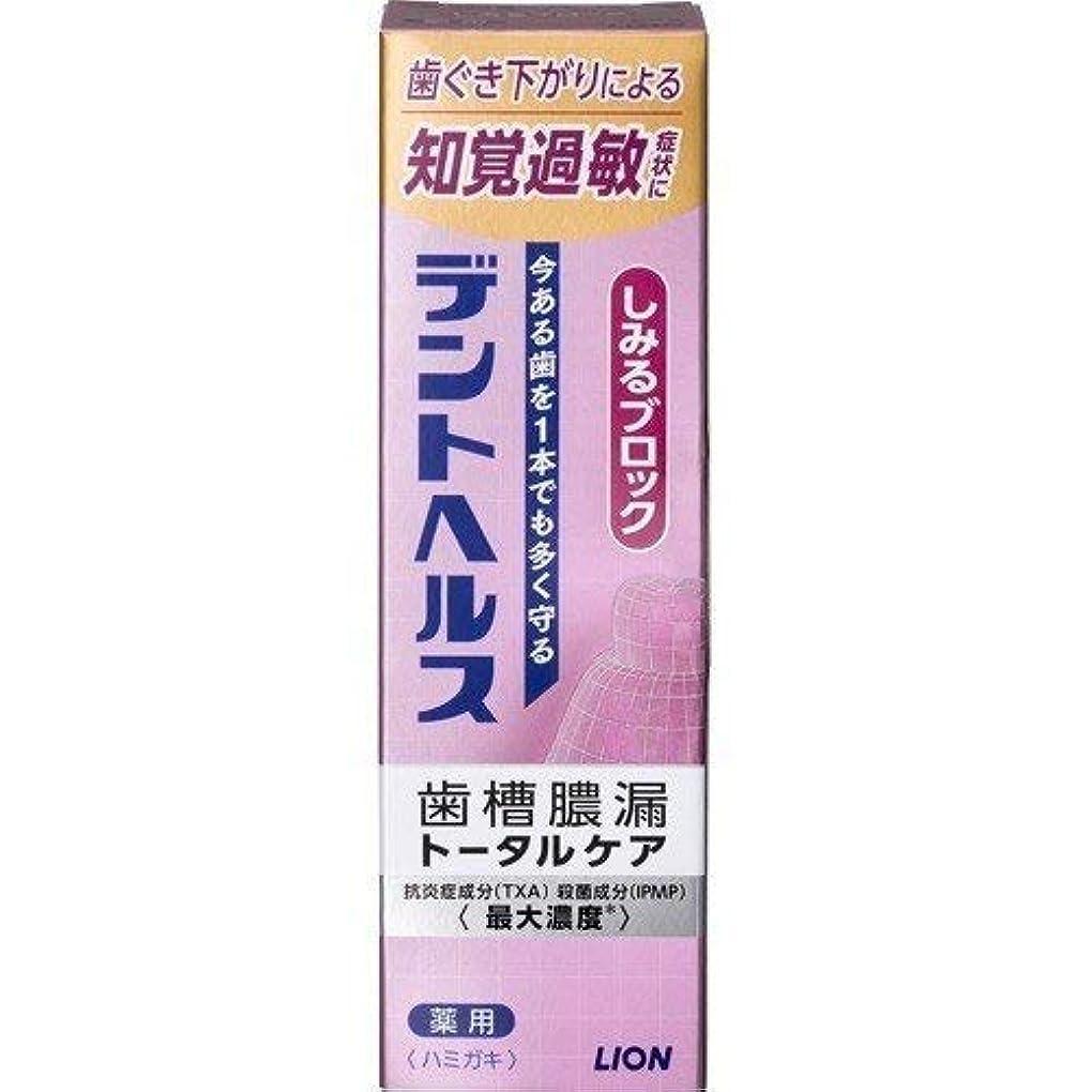 形容詞おとうさんお金ゴム歯槽膿漏予防に デントヘルス 薬用ハミガキしみるブロック 85g (医薬部外品) × 10点