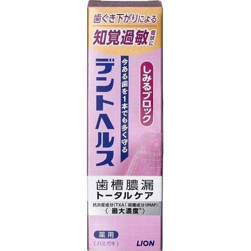国籍命題冬歯槽膿漏予防に デントヘルス 薬用ハミガキしみるブロック 85g (医薬部外品) × 10点