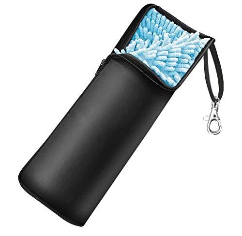 Agedate 折りたたみ傘カバー 2面超吸水 傘ケース 防水軽量シンプル 傘ケース 携帯便利 ブラック36cm