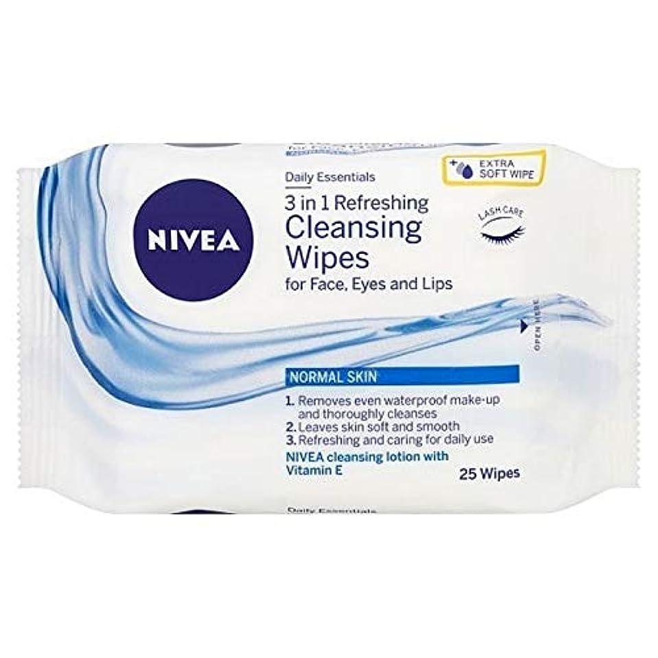 バラ色口頭インスタント[Nivea ] ニベアさわやかなクレンジング顔は、25のワイプワイプ - NIVEA Refreshing Cleansing Face Wipes, 25 wipes [並行輸入品]