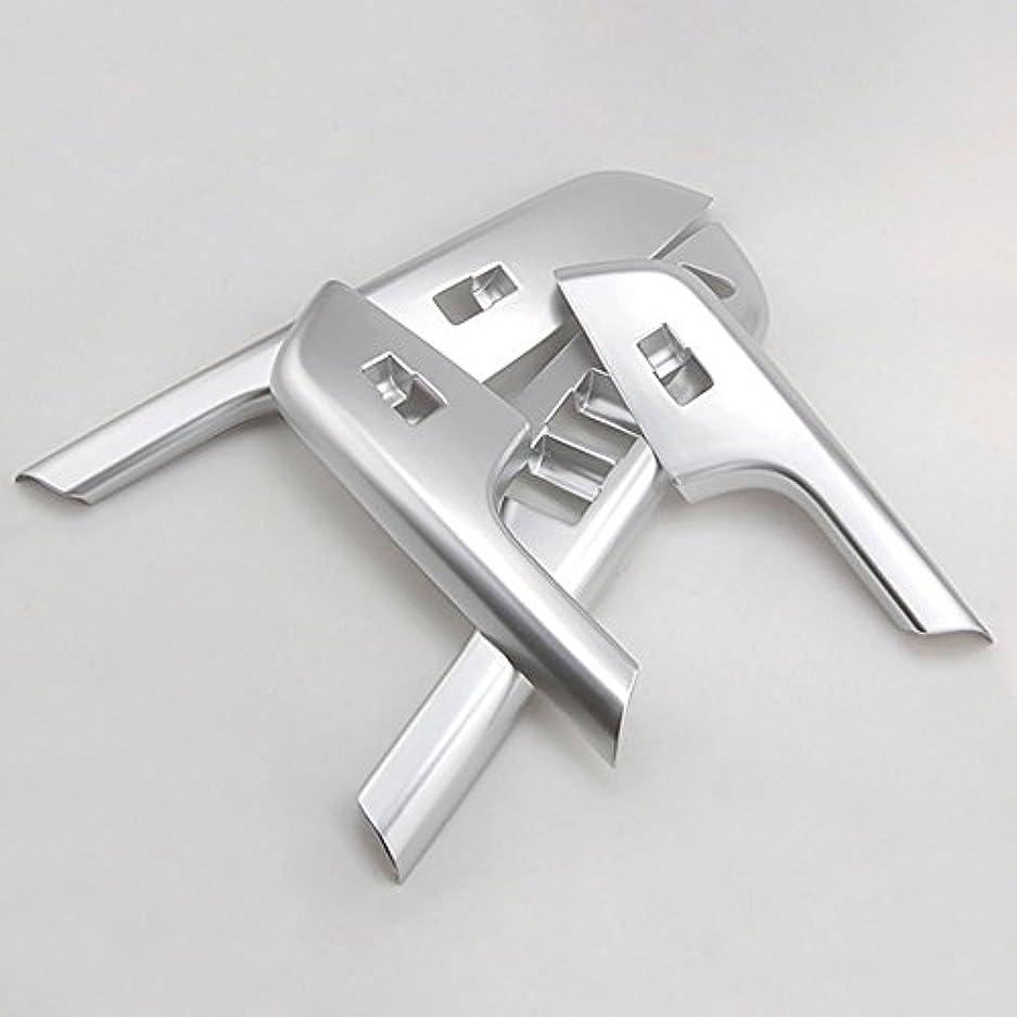 労働者記念碑的な殺しますJicorzo - 4Pcs Car Styling Door Window Switch Lift Button Handle Cover Trim Sticker Chrome ABS Frame Overlays...