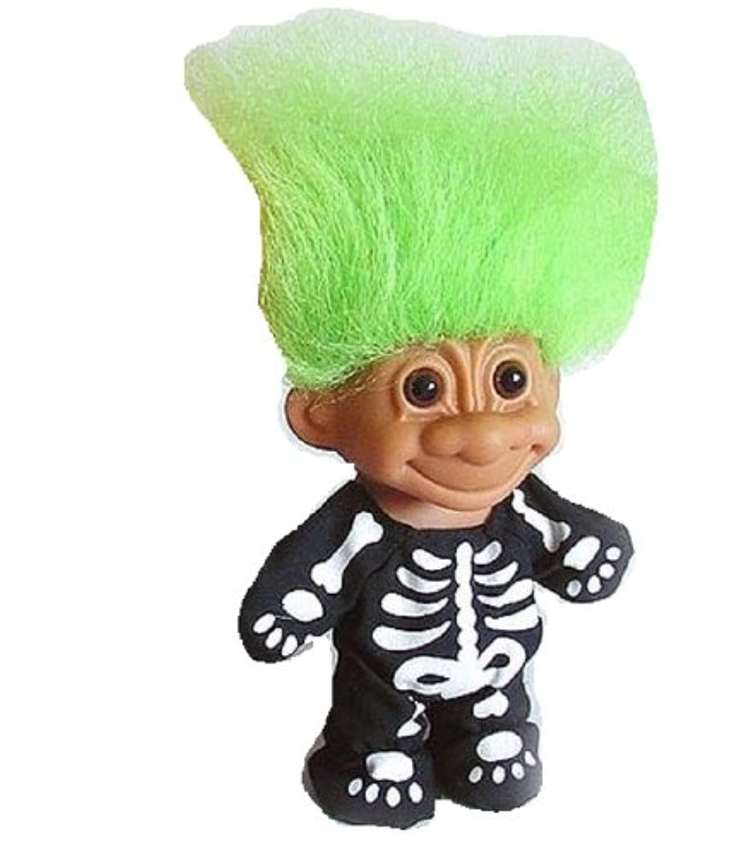 Russ trollスケルトンwithグリーンヘア
