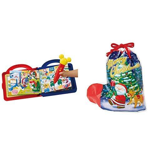 ラッピングセット ディズニー 日本語英語 ことばがいっぱい! マジカルずかん プレミアムDX (サンタソックス 3L)