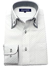 (ブルーム) BLOOM 2018春夏 オリジナル 長袖 ワイシャツ 形態安定加工 S/M/L/LL/3L/4L/5L/6L 5柄 ドゥエボットーニ ボタンダウン