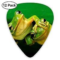 キュート カエル ピック Guitar Pick ギターピック それぞれ厚さ 12個入り Thin 0.46mm、Medium 0.73mm、Heavy 0.96mm 各4枚 ティアドロップピック ツール レザー 弦楽器 多種多色