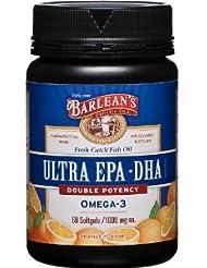 高濃度 (1000mg)  EPA DHA (オレンジフレーバー)-  60 Softgels (海外直送品)