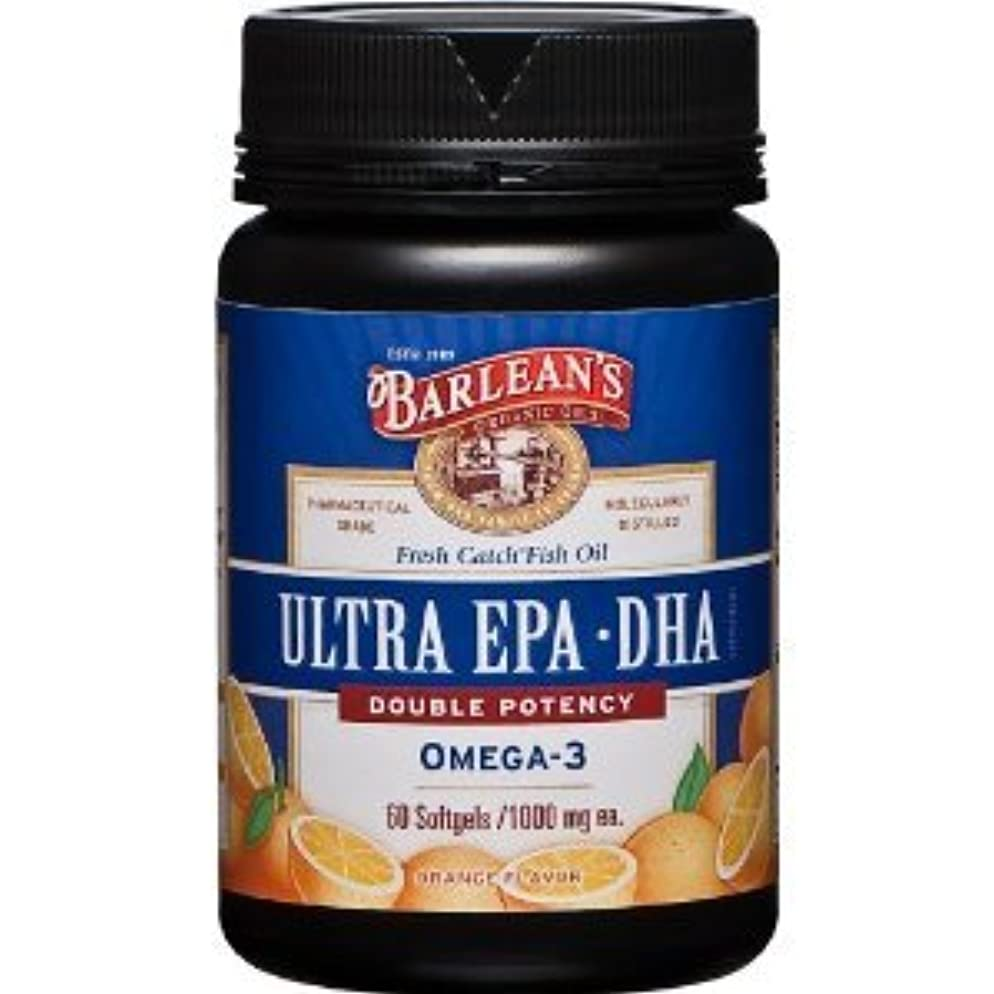 蘇生するクロールハード高濃度 (1000mg)  EPA DHA (オレンジフレーバー)-  60 Softgels (海外直送品)