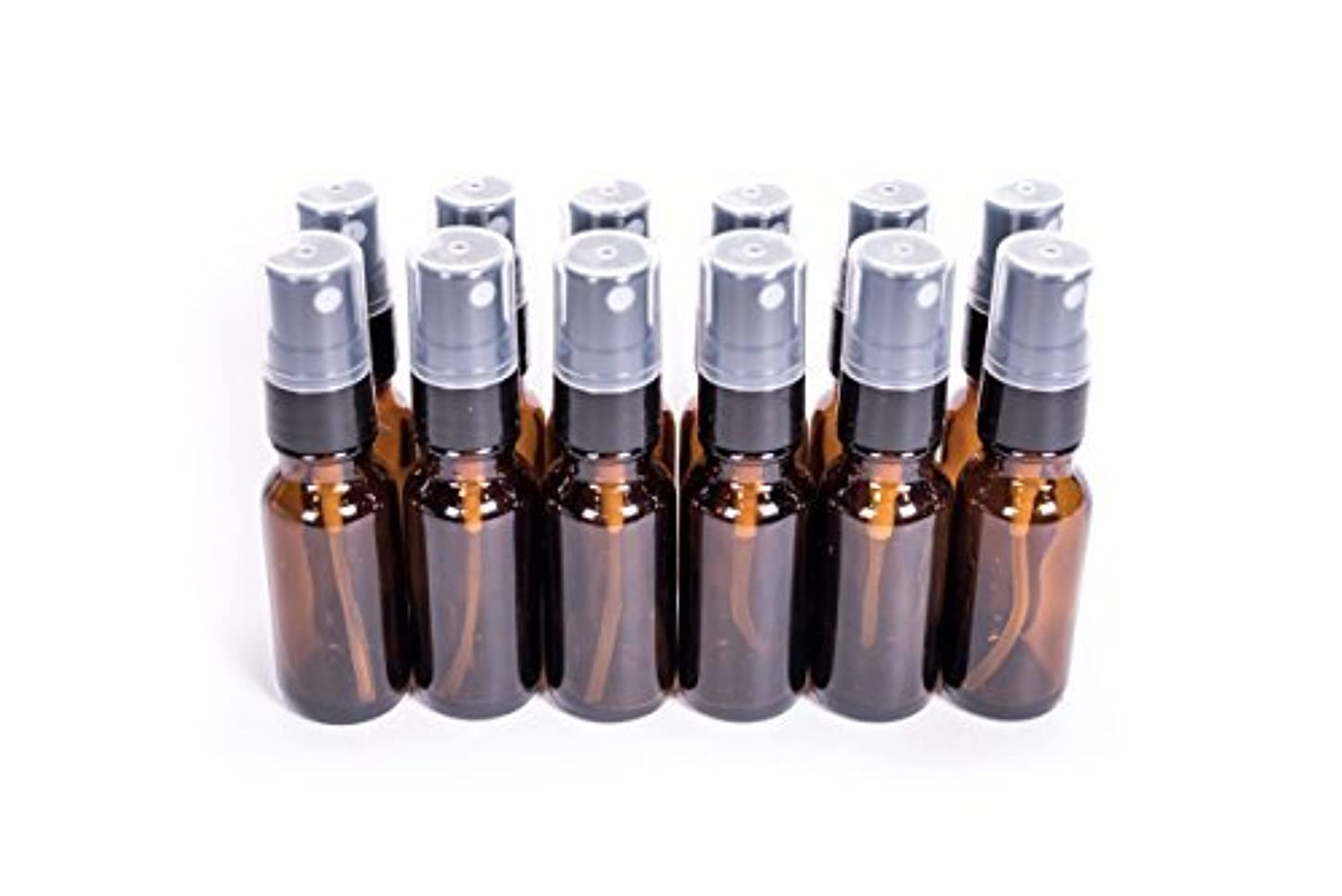 Everything4Oils 1/2oz(15ml) Amber Glass Bottle with Pump for Essential Oils (. [並行輸入品]