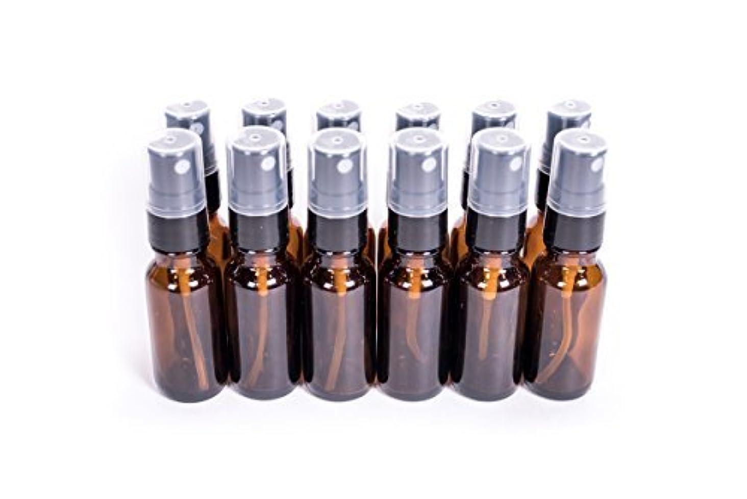 縁本能療法Everything4Oils 1/2oz(15ml) Amber Glass Bottle with Pump for Essential Oils (. [並行輸入品]