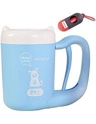 足洗いカップ ペット 犬 クリーナー 足洗いブラシ 半自動式 小型犬に最適 回転 便利 シリコーンブラシ 柔軟 マッサージ効果 安全 ブルー