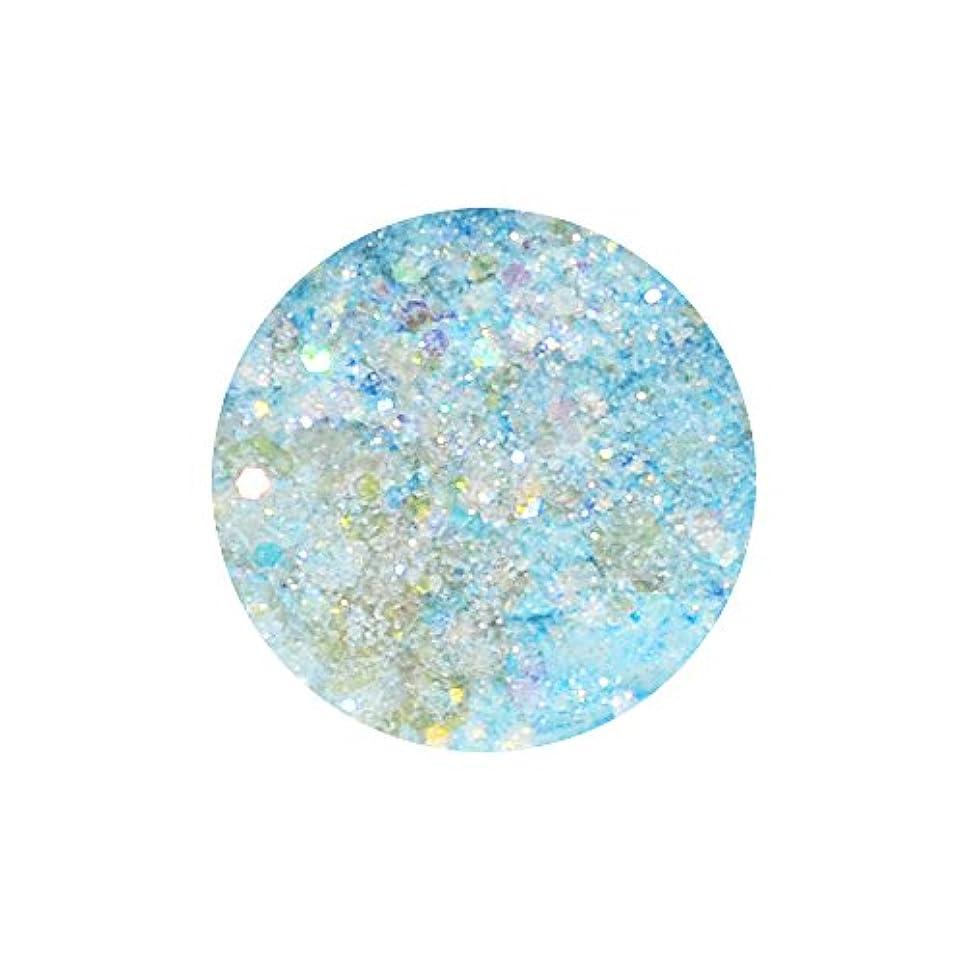 フラフープ演じる聖なるirogel イロジェル 超微粒子マジカルグリッター + ホログラム 【アクアブルーMIX】