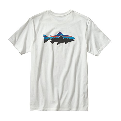 (パタゴニア)patagonia M's Fitz Roy Trout Cotton T-Shirt 38821 WHI White//White M