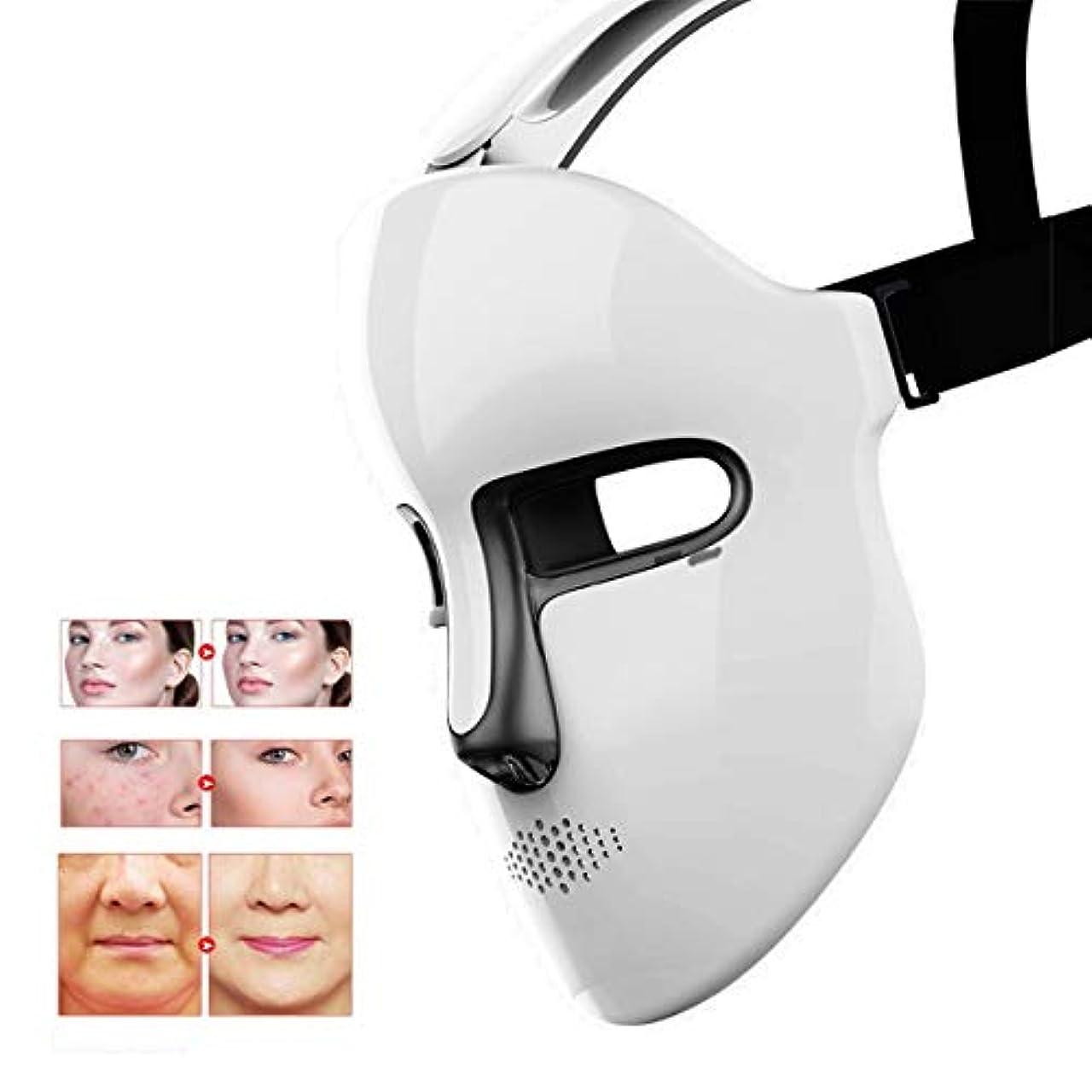 ラテンモンク力強いLED光子治療は家庭用フェイススキンケア分光アンチエイジング美白若返りしわの除去を隠します