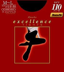 エクセレンス タイツ 110デニール M-L ピュアブラック