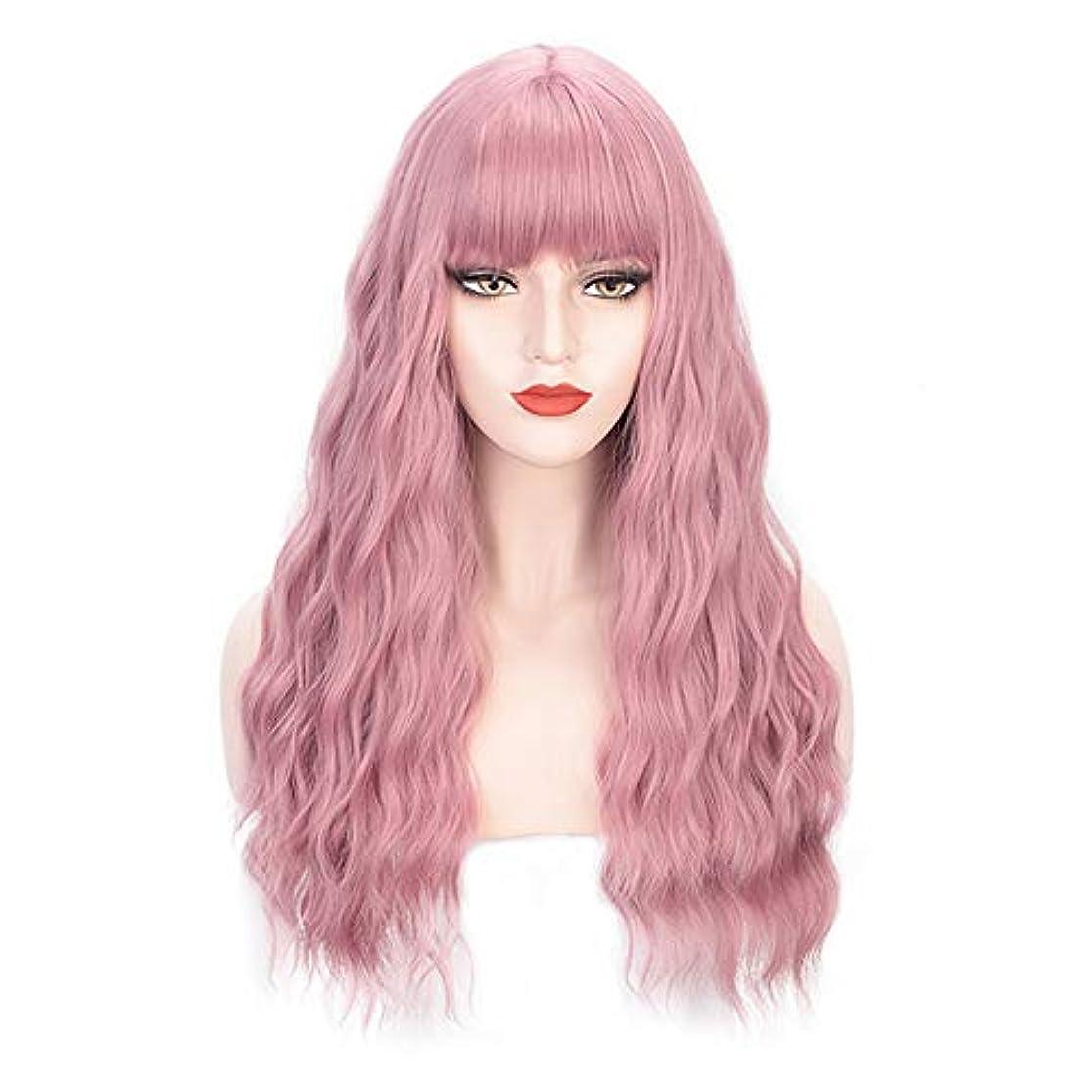 アカウント月重さヘアピースロングカーリー女性女の子魅力的な合成かつら人工シルクヘアウィッグ高温風量ソフトカーリーロングカーリービッグウェーブヘアウィッグコスプレ28インチ