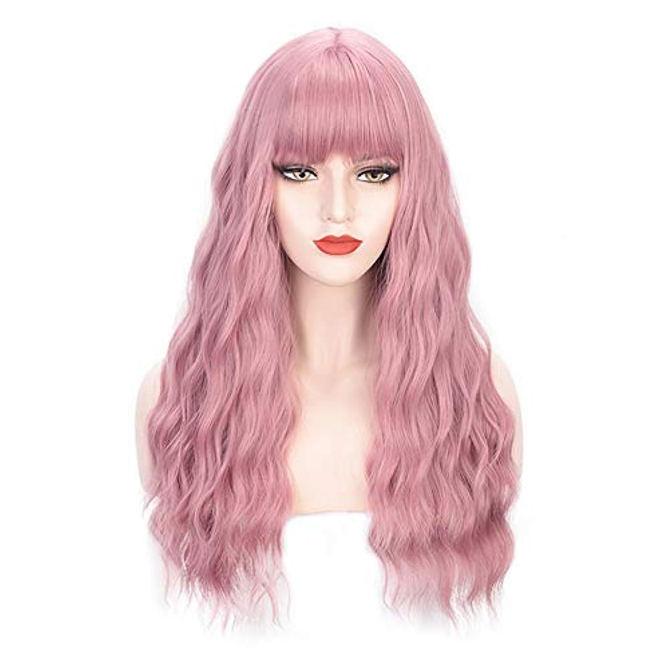 行為連合尊敬するヘアピースロングカーリー女性女の子魅力的な合成かつら人工シルクヘアウィッグ高温風量ソフトカーリーロングカーリービッグウェーブヘアウィッグコスプレ28インチ