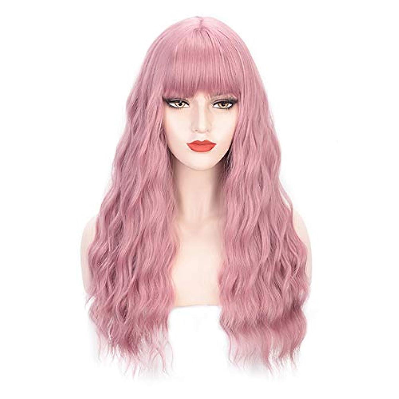 気性防水ゴールドヘアピースロングカーリー女性女の子魅力的な合成かつら人工シルクヘアウィッグ高温風量ソフトカーリーロングカーリービッグウェーブヘアウィッグコスプレ28インチ
