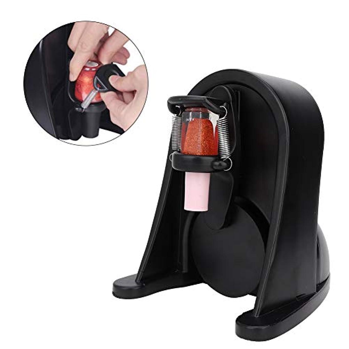 スイ酸打撃マニキュア シェーカー UVジェル液体ボトル シェーキングマシン ネイルジェル ネイルポリッシュ インク顔料調整可能ミキサー(ブラック)