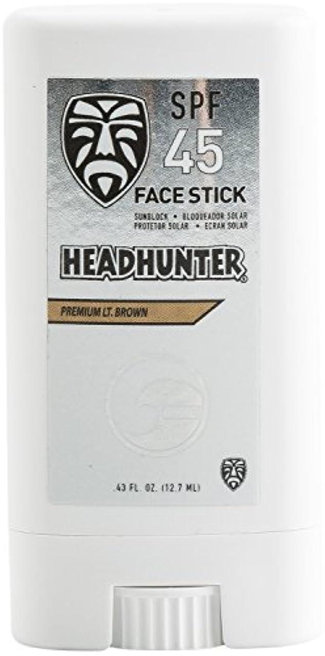 襟発送決定するHEAD HUNTER(ヘッドハンター)日焼止め スティック [Lt/Brown] FACE STICK SPF45 強力ウォータープルーフ