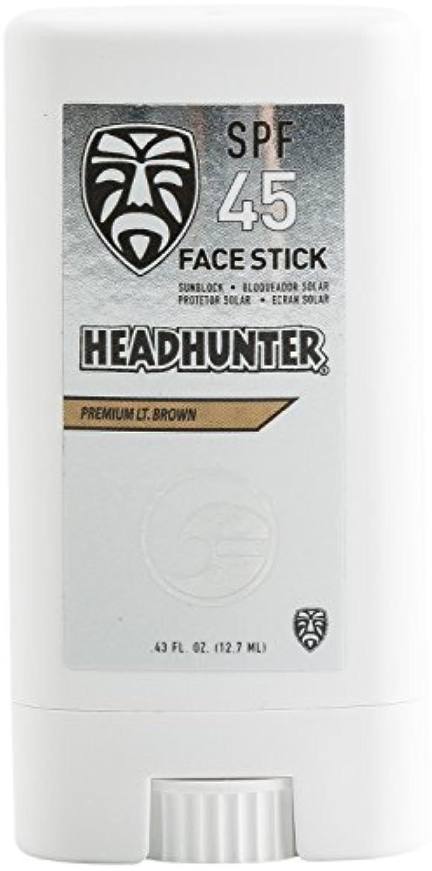 独占オープニング幾分HEAD HUNTER(ヘッドハンター)日焼止め スティック [Lt/Brown] FACE STICK SPF45 強力ウォータープルーフ