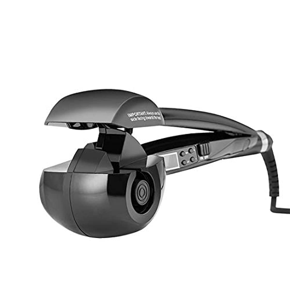 屈辱するどっちファブリック電動アニオンヘアカーラーアップグレードアイアン自動エアカーリングワンドセラミック回転カーラーヘアスタイリングツールカーラー