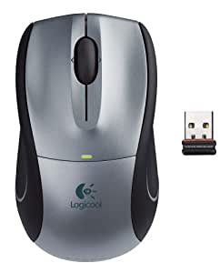 ロジクール V450 Nano コードレス レーザーマウス ライトシルバー V450-NLS