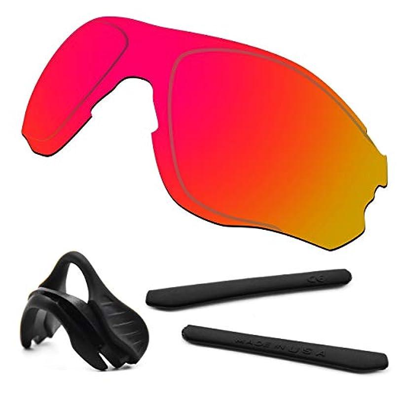 アソシエイトパット時々時々HKUCO 強化 にとって Oakley EVZero OO9308 赤 偏光 交換レンズ ブラック ラバーキット と鼻パッド