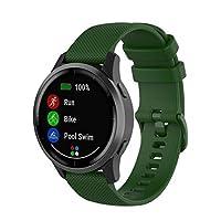 Watch strap Silicone Strap For Garmin Vivoactive 4 22mm (White) (Color : Dark Green)