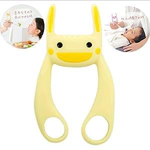(ヘルプマイマム)HELPMYMOM サポうさ イヤイヤ期 仕上げ磨き 離乳食 育児の補助に。(サニーイエロー)