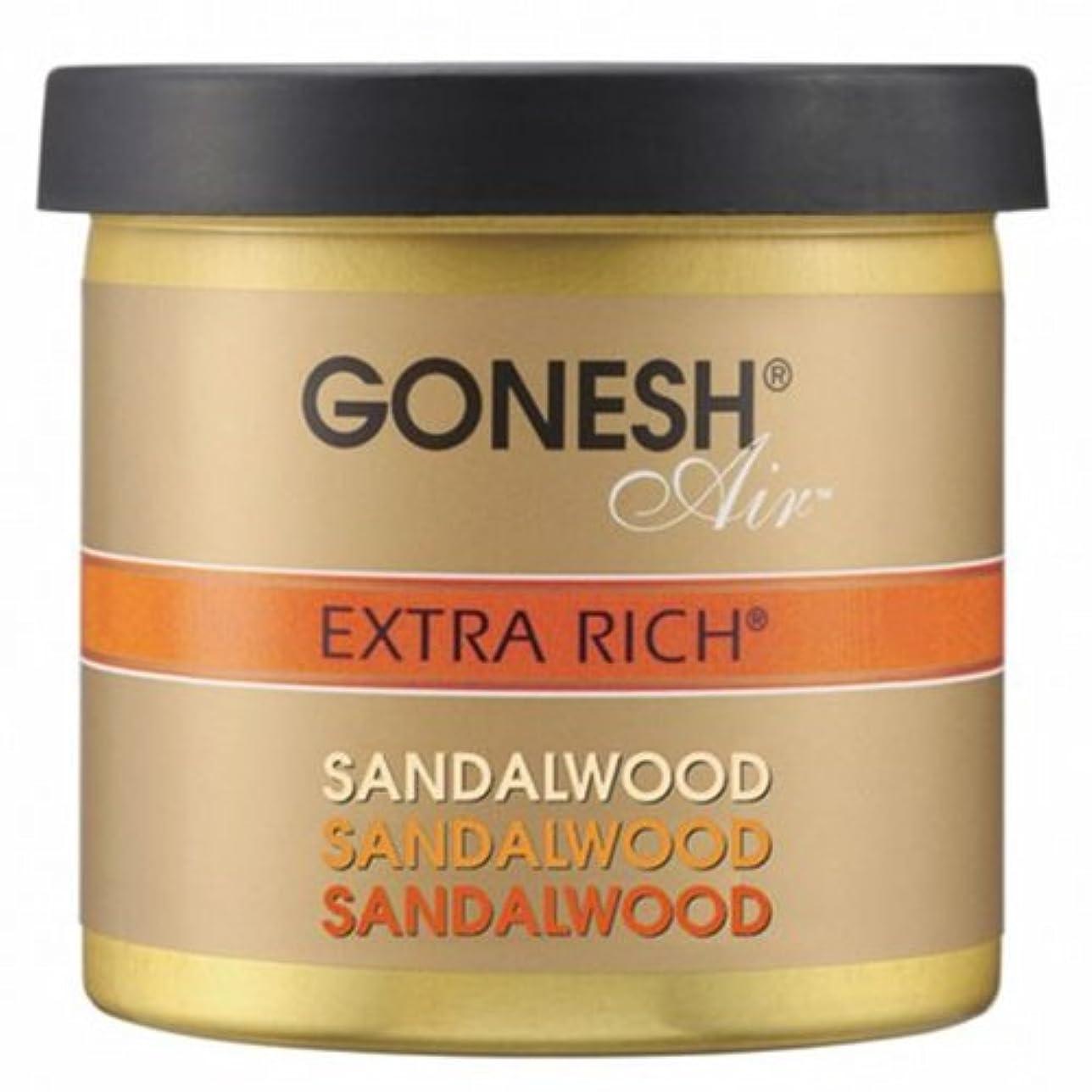 ユダヤ人連想作るGONESH(ガーネッシュ)ゲルエアフレッシュナー サンダルウッド 78g (白檀の香り)