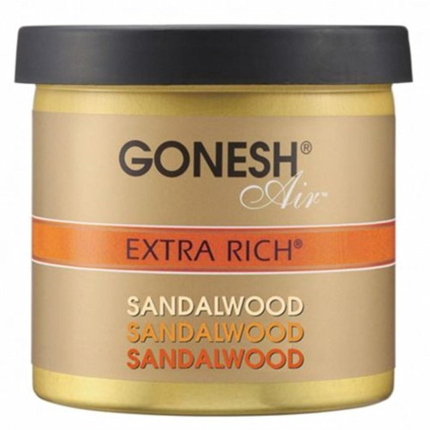 くるみ器官熱心GONESH(ガーネッシュ)ゲルエアフレッシュナー サンダルウッド 78g (白檀の香り)