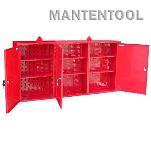 ウォールキャビネット 赤(壁掛け式工具箱・工具棚・ガレージウォールキャビネット)