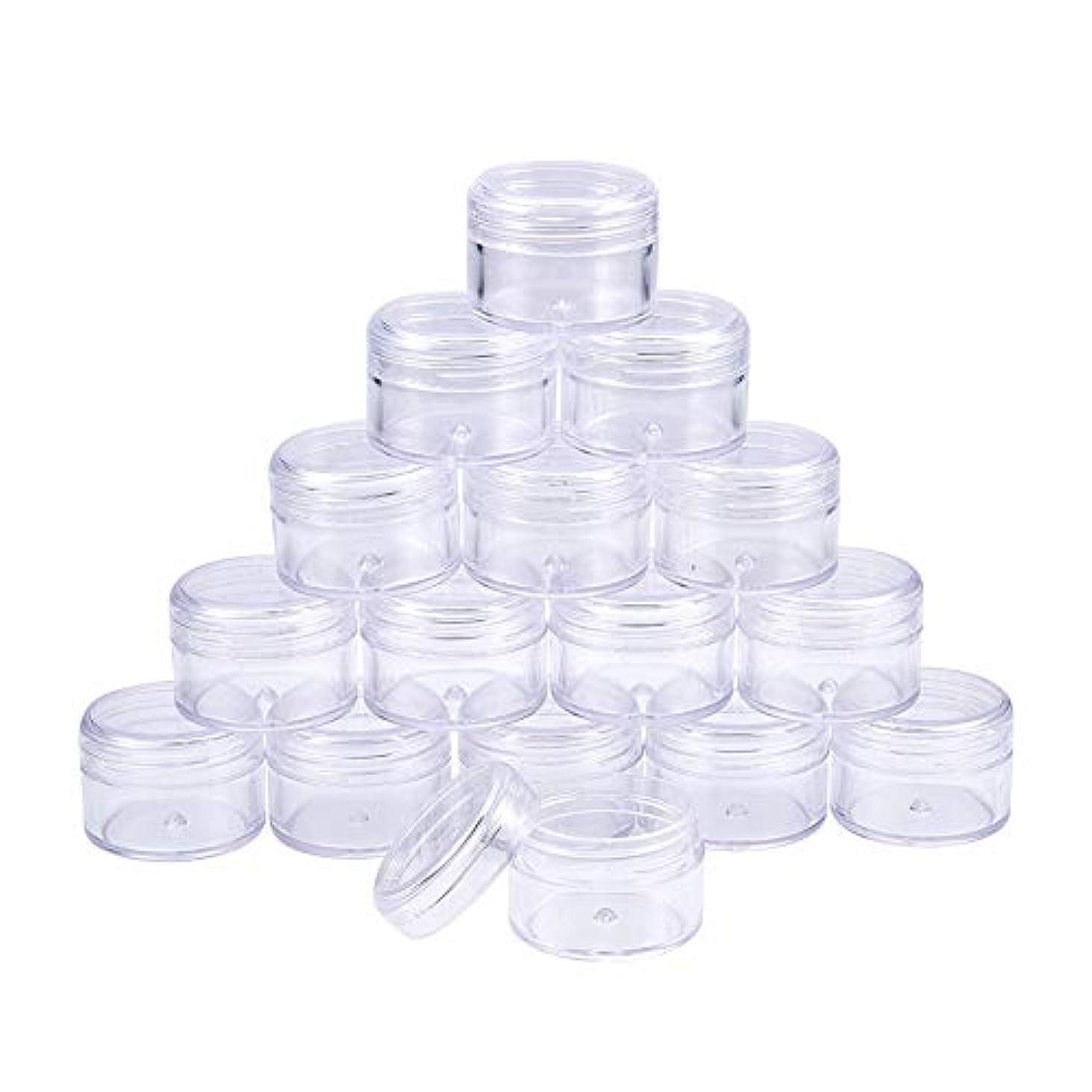 壮大干し草言うBENECREAT 16個セット25ml小分け丸ケース プラスチックケース アクセサリー ビーズ 化粧品 ネイルパーツ収納ボックス 詰め替え容器 小物収納ボックス クリア