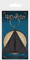 """ハリー・ポッター「死の秘宝ロゴ""""PVC柔軟なキーリング(H Potter Deadly Halows Logo keyring py)"""