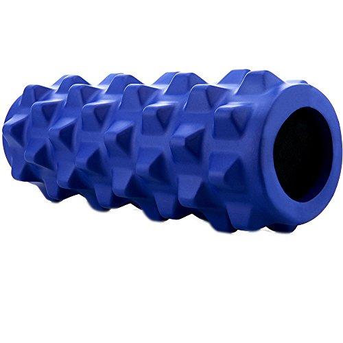 Motomo フォームローラー ストレッチローラー 筋膜リリース マッサージ 腰痛・肩コリ・筋肉痛を改善 (ダークブルー)