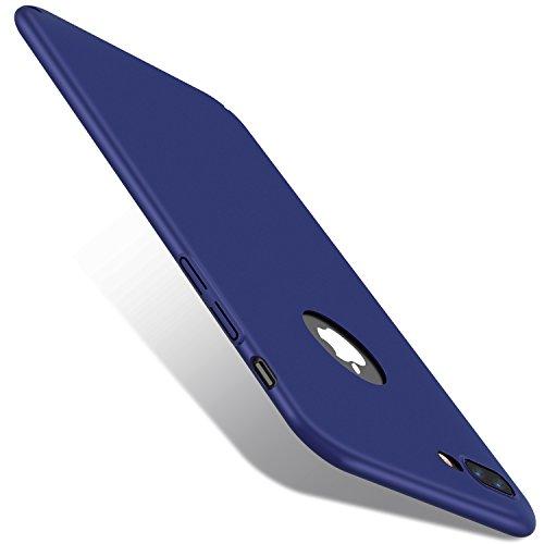 VANMASS iPhone7plusケース iphone7プラスカバー アイフォン7プラスケース iphone7プラス バンパー iPhone7plus case アイフォーン7プラス ケース 極薄 ハード スリム 衝撃吸収 シンプル ソフト スマホケース アイホン7プラスケース リンゴマーク アップルマーク(iphon7plus, ダックブルー)