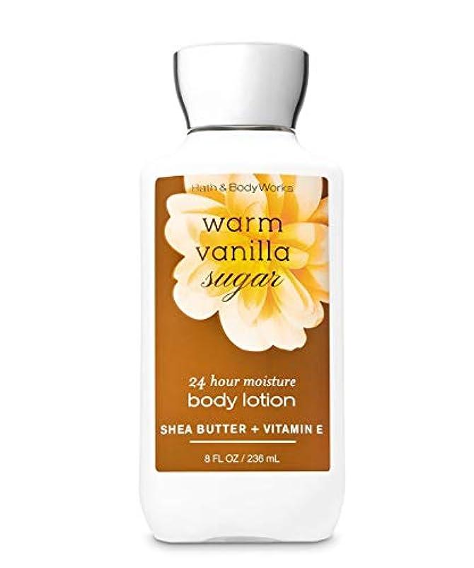 長さ超音速無秩序バス&ボディワークス ウォームバニラシュガー ボディローション 236ml(8oz) Body Lotion Warm Vanilla Sugar【並行輸入品】