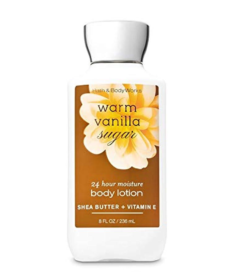 戸棚動機付ける包括的バス&ボディワークス ウォームバニラシュガー ボディローション 236ml(8oz) Body Lotion Warm Vanilla Sugar【並行輸入品】