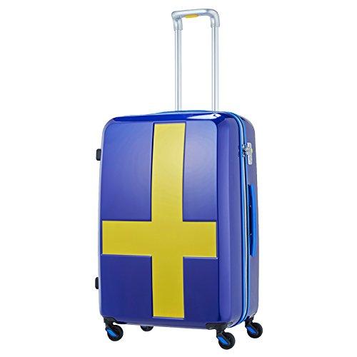 イノベーター スーツケース ファスナーキャリー ツートンタイプ 【63cm】 INV63Tサーフブルー×イエロー